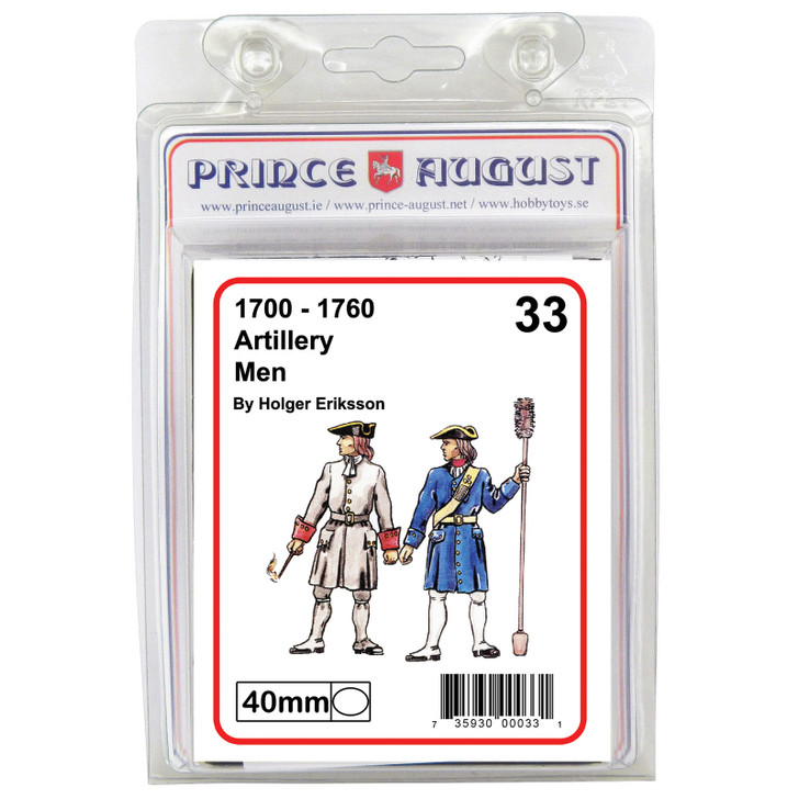 18th Century Artillery Man with ramrod blister