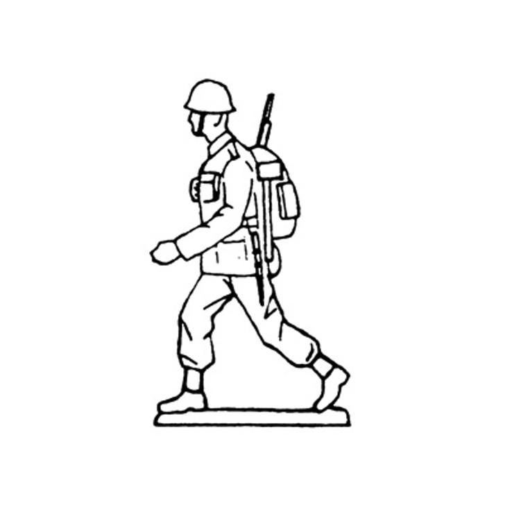 40mm Scale Holger Eriksson's Walking solder, rifle under arm Mould