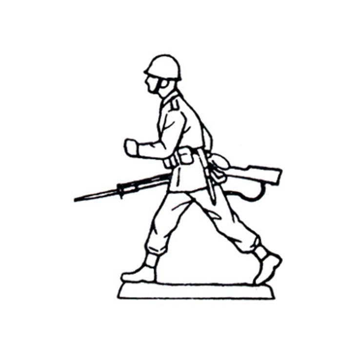 40mm Scale Holger Eriksson's Walking solder, holding rifle Mould