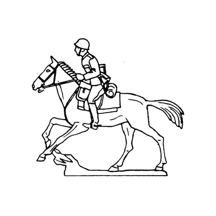 40mm Scale Holger Eriksson's Soldier on galloping horse Mould