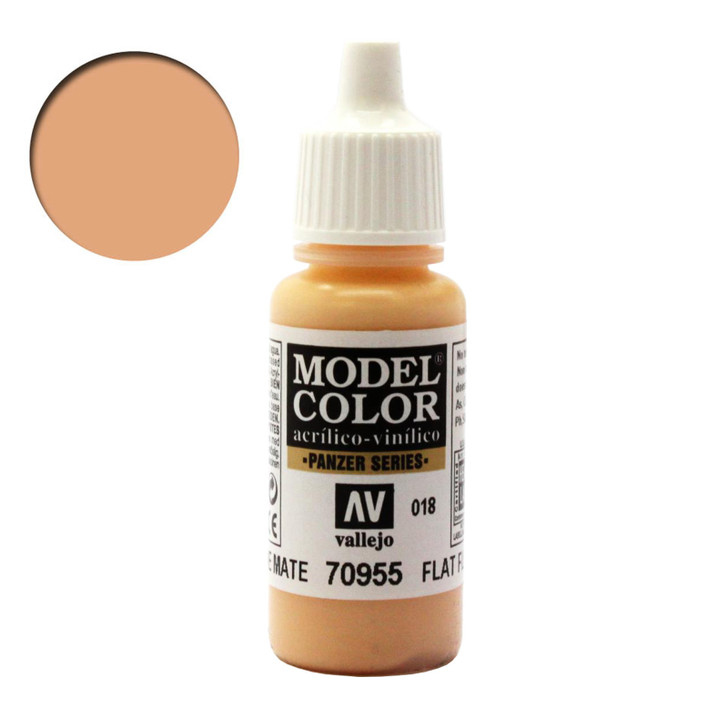 Flat Flesh Vallejo Model Color Acrylic Paint 70955