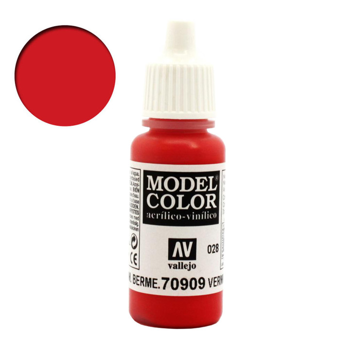 Vermillion vallejo model color acrylic paint 70909