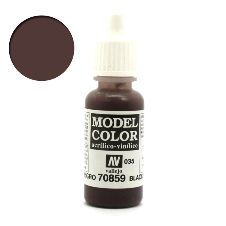 Black Red Vallejo Model Color Acrylic Paint 70859