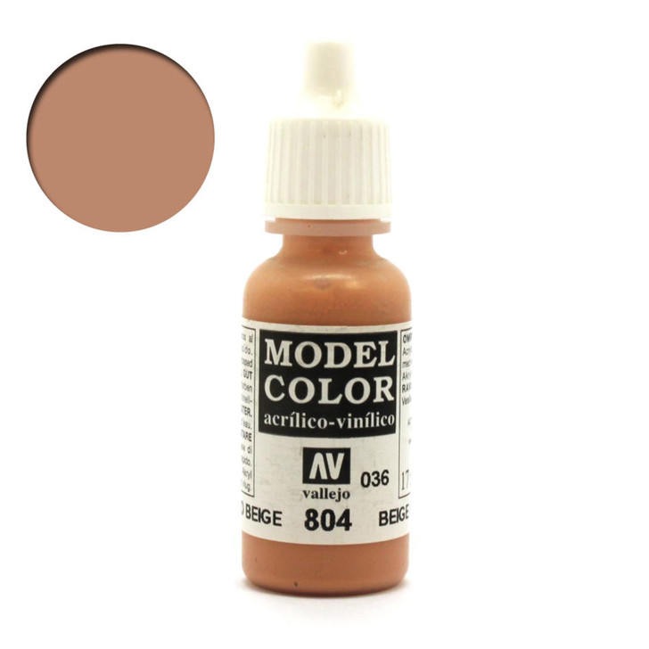 Beige Red Vallejo Model Color Acrylic Paint 70804