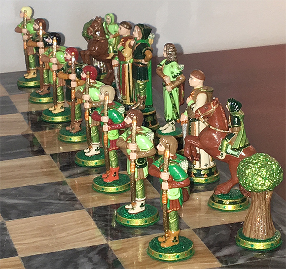 John Lubinski Robin Hood chess side