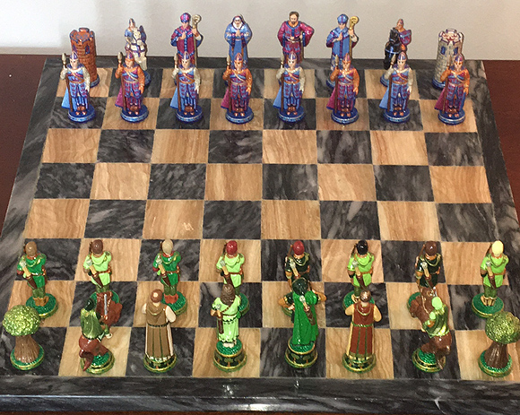 John Lubinski Robin Hood chess set