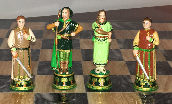 John Lubinski Robin Hood chess pieces