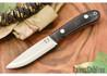 Hyken Knives: Bushcrafter CPM-154 - Black Canvas Micarta