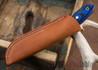 True Saber Knives: Shawnee - Bone Linen Micarta