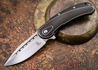 Todd Begg Knives: Steelcraft Series - Bodega - Black Frame - Black Scallop Pattern - Satin Blade