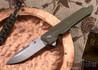 Spartan Blades: Kranos - Bronze Anodized Titanium - Green G-10