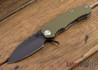"""Medford Knife & Tool: 187 """"F"""" Flipper - OD Green G-10 / Ti - Gray PVD"""