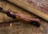Dark Timber Knives: Honey Badger - CPM 3V - Black Micarta / Maple Burl - Orange Liners - Acidwash