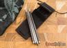 Spartan Blades: Chopsticks - Titanium & Carbon Fiber - Multicolor Blue Anodized