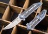Todd Begg Knives: Steelcraft Series - 3/4 Kwaiken - Carbon Fiber Inlay - Blue Titanium - Satin Blade