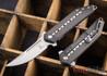 Todd Begg Knives: Steelcraft Series - 3/4 Kwaiken - Carbon Fiber Inlay - Black Titanium - Satin Blade