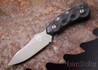 Southern Grind: Jackal Pup - Gunmetal Blade - Black G-10 - Black Kydex Sheath