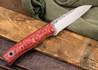 Fiddleback Forge: Bushraptor - Dyed Quarter Sawn Curly Oak - Natural & White Liners - FF13DD009