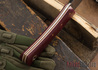 Fiddleback Forge: Bushcrafter Tasker - Ruby Burlap - Natural & White Liners - A2 Tool Steel - FF10ED004