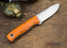 Fiddleback Forge: Bushcrafter Jr. - Dyed Curly Maple - Natural & White Liners - Tapered Tang - FF31ED006
