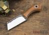 Fiddleback Forge: Bow Legged Joe - Natural Canvas Micarta - Natural & White Liners - Skeletonized Full Tang - FF31ED008