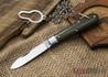 Great Eastern Cutlery: #15 Tidioute - Huckleberry Boy's Knife - OD Green Linen Micarta - Bail & Chain