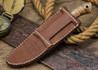 Lon Humphrey Knives: Bird & Trout - Forged 440C - Claro Walnut Burl - White Liners