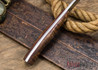 Lon Humphrey Knives: Bird & Trout - Forged 440C - Curly Koa - Red Liners #2