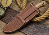 Lon Humphrey Knives: Bird & Trout - Forged 440C - Curly Koa - Red Liners #3