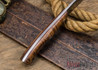 Lon Humphrey Knives: Bird & Trout - Forged 440C - Curly Koa - Red Liners #4