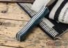 Fiddleback Forge: Duke - Sapphire Burlap - Black & White Liners