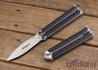 Bradley: Kimura Butterfly Knife - Black G-10 - 154CM