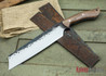 Lon Humphrey Knives: Retribution - Blonde Curly Maple - Blue Liners - 038