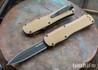Benchmade Knives: 3400BK-2 Autocrat - Coyote Brown G-10 - CPM-S30V - Black DLC - OTF Auto
