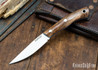 Lon Humphrey Knives: Bird & Trout AEB-L - Tasmanian Blackwood - Blue Liners - 092896