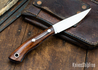 Lon Humphrey Knives: Bird & Trout AEB-L - Desert Ironwood - Blue Liners - 092956
