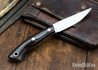 Lon Humphrey Knives: Bird & Trout AEB-L - Desert Ironwood - Blue Liners - 092958