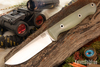 Bark River Knives: Gunny Rampless - CPM S45VN - Ghost Green Jade G-10 - Hollow Pins