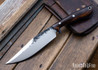 Lon Humphrey Knives: Hickok - Forged 52100 - Desert Ironwood - Blue Liners - 120282