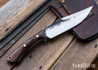 Lon Humphrey Knives: Hickok - Forged 52100 - Desert Ironwood - White Liners - 120303