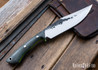 Lon Humphrey Knives: Hickok - Forged 52100 - Black Storm Maple - Lime Green Liners - 120338