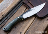 Lon Humphrey Knives: Hickok - Forged 52100 - Black Storm Maple - Lime Green Liners - 120339