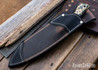 Lon Humphrey Knives: Hickok - Forged 52100 - Black Storm Maple - Yellow Liners - 120349