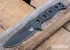 375BK-1 Adamas Fixed Blade - CPM CruWear - Cobalt Black Cerakote