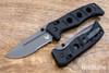 Benchmade Knives: 275SGY-1 Adamas - Black G-10 - CPM CruWear - Tungsten Gray Cerakote - Partially Serrated