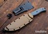 ESEE Knives: ESEE-6P - Black - Brown Sheath