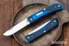 Case Knives: Sod Buster Jr. - Caribbean Blue Sawcut Bone - 25590