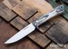 Lon Humphrey Knives: Tucson AEB-L - Storm Maple - White Liners - LH30GG151