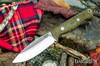Bark River Knives: UP EDC - Green Canvas Micarta