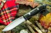 Bark River Knives: UP EDC - Navy Burlap Micarta - White Liners - FHG